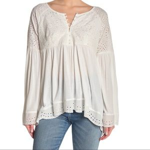 Free Peoples Sea of Love Blouse- Size Small